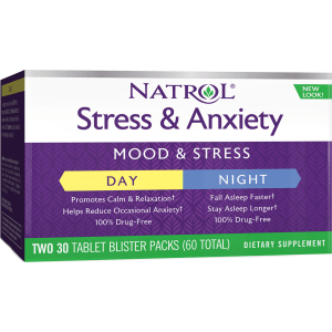 Stress Anxiety Day & Nite - 60 Tablets - Natrol(r) - Stress Supplements
