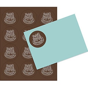 Chocolate 2 5 Inch Round Labels - 5 Sheets