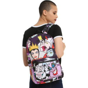 Loungefly Disney Villains Characters Print Backpack from Hot Topic.