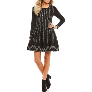 42941c0b1bb Gianni Bini Kortni Sweater Skater Dress from Dillard s.