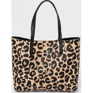 ff6f03f6491f Target. Women S Small Reversible Tote Handbag A New Day Leopard Print
