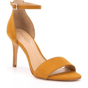 Antonio Melani Pierrson Nubuck Leather Ankle Strap Dress Sandals