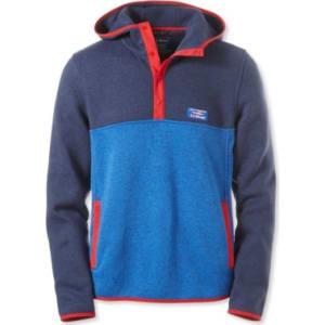 Mens Llbean Sweater Fleece Hooded Pullover Colorblock From Ll Bean