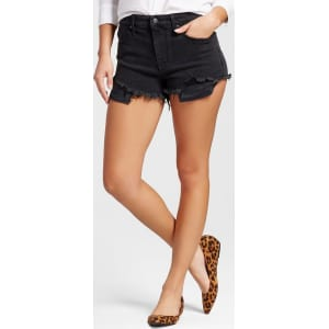 af975851cd Women's High-Rise Shorts With Raw Hem - Mossimo Black 18 from Target.