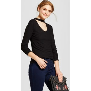 Women s Long Sleeve Cozy Choker Neck Sweater - Mossimo Supply Co ... 743f2c461