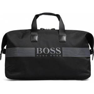 626384a1f0 Hugo Boss Pixel Holdall Logo-Print Nylon Travel Bag One Size Black from BOSS .