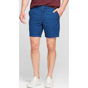 7c03bd7c9d Men's 7 Seersucker Linden Flat Front Shorts - Goodfellow & Co Navy ...