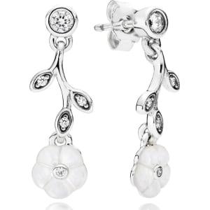Pandora Luminous Florals Drop Earrings Sterling Silver