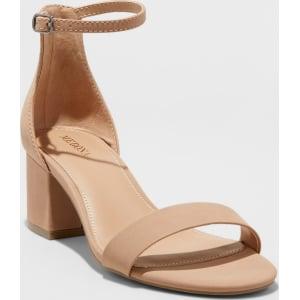 1fd9201cefd Women s Marcella Wide Width Block Heel Sandal Pumps - Merona Taupe ...