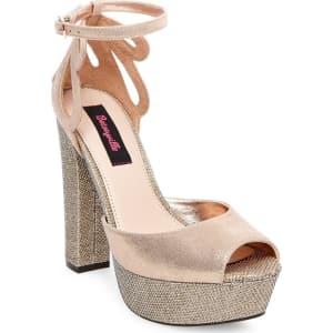 0e14fd011d6e Women's Betseyville Daisy Glitter Mesh Platform Block Heel Sandals ...