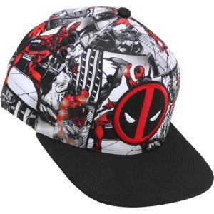 37c3bb7ef3691 Marvel Deadpool Comic Panel Logo Snapback Hat from Hot Topic.