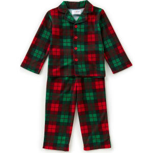 31255856a6b2 Dream Life by Us Angels Little Boys 2-7 Christmas Plaid Button-Down ...