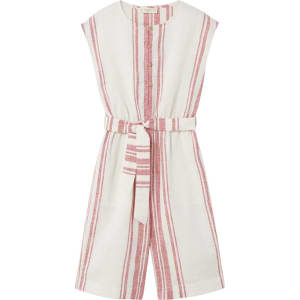 f770acfe31ed Linen-Blend Striped Jumpsuit from MANGO.