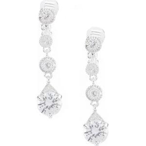 5626b2e0007c4 Anne Klein Crystal Linear Clip Earrings