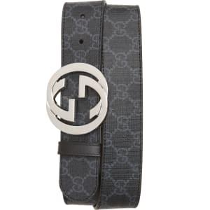 9744dd51195b Men s Gucci Logo Buckle Interlocking Belt