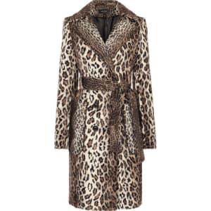 6a4b67ff85bc Faux Fur Leopard Coat from Karen Millen.