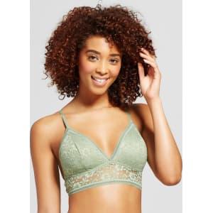 da08ff3d2b0 Women s Long Line Lace Bralette - Xhilaration - Olive Green M from ...