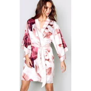 B By Ted Baker Pink Satin Porcelain Rose Dressing Gown From Debenhams