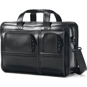 56b7515b8 Samsonite Professional Leather 2 Pocket Laptop Briefcase from Macy's.