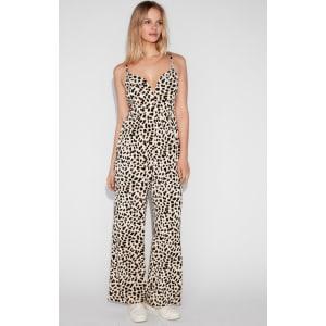 35b7c65f6f17 Express Womens Leopard Print V-Wire Cami Jumpsuit from Express.