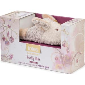 33a2086eb72 Totes Beige Novelty Rabbit Mule Slippers from Debenhams.