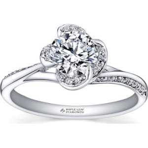 7843679c2f071 Maple Leaf Diamonds Wind s Embrace 18ct White Gold Diamond Solitaire ...