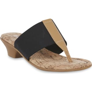 1ca33df4923d5 Laura Scott Women's Sandy Thong Black Sandal, Size: 7.5