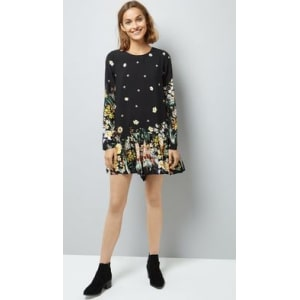 attractive designs select for latest variety design Blue Vanilla Floral Border Print Playsuit New Look