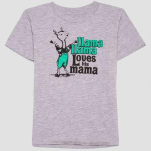13b5293d838ba Llama Llama Toddler Boys' 'Llama Llama Loves His Mama' Short Sleeve T-Shirt  - Cloudy Gray 5t