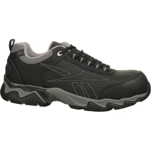 Reebok Work Men s Beamer Composite Toe Electrical Hazard Work Shoes (Black  Leather) 21a1c52fe