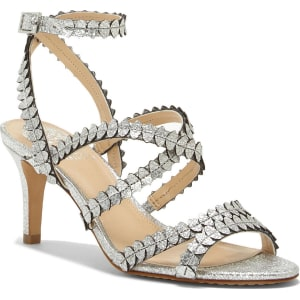 Yuria Metallic Strappy Dress Sandals