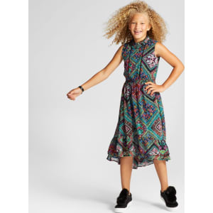 56a3f577d68840 Girls  Printed Maxi Dress - Art Class Blue Tapestry L from Target.