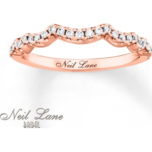 Neil Lane Wedding Band 1/5 Ct Tw Diamonds 14K Rose Gold