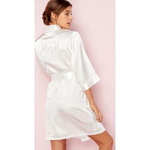 The Collection - Ivory  Mrs H  Satin Dressing Gown from Debenhams. 4a9779f53