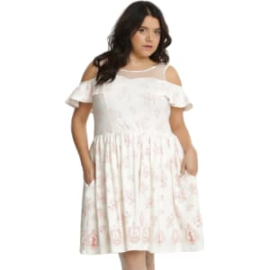 Disney Beauty And The Beast Icons Cold Shoulder Dress Plus Size