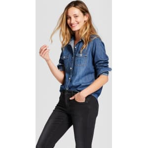 1f85c2afb19 Women s Labette Denim Shirt Long Sleeve Button-Down Shirt ...