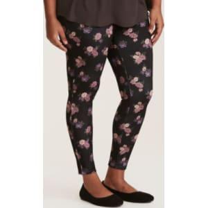 4aa290698e5 Velvet Floral Print Leggings in Pink from Torrid.