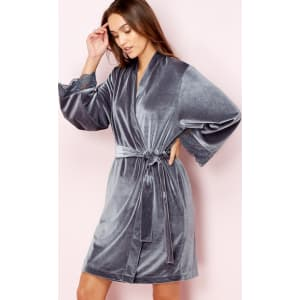 The Collection - Grey Velour Dressing Gown from Debenhams. b0b350df1