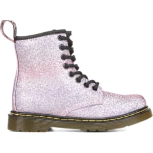 9aa7393e8e650 Dr. Martens Kids  Delaney Combat Boot Pre Grade School Boots (Pink ...