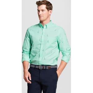 92430bc7139 Men's Standard Fit Northrop Long Sleeve Button-Down Shirt - Goodfellow & Co  Soft Aqua Xl, Green from Target.