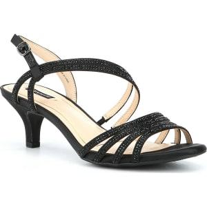 53f0b3aa4edd Alex Marie Layona Jeweled Satin Dress Sandals from Dillard s.
