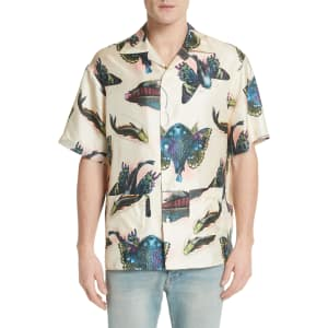 781486a3a7078f Men s Gucci Flying Fish Silk Bowling Shirt