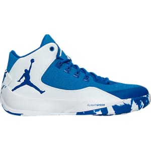 wholesale dealer ea55e 5d12b Nike Men's Air Jordan Rising High 2 Tb Basketball Shoes, White/Blue