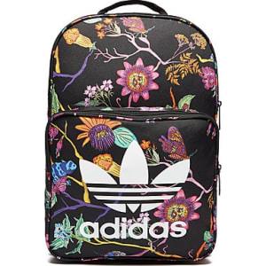 d0d12fab27ca Adidas Originals Classic Print Backpack - Black - Womens from JD Crosstown  Running.