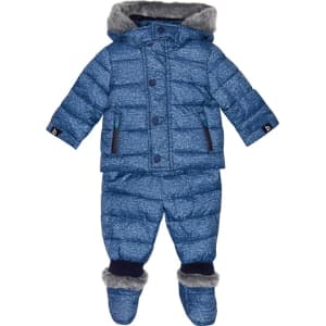 dd42973d5e9325 Baker by Ted Baker Baby Boys  Blue Three Piece Snowsuit from Debenhams.