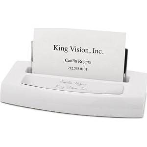 White high gloss business card holder steelsilvermdf by things white high gloss business card holder steelsilvermdf by things remembered reheart Images