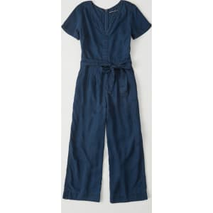 4bc58866d4eb Short-Sleeve Denim Jumpsuit from Abercrombie   Fitch.