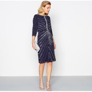 Beaded Knee Length Dresses