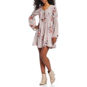 07a723e28e9 Coco Jaimeson Floral Print Smocked Waist Dress from Dillard s.