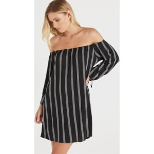 5fcac280fafe Cotton on Women - Kn Lush Off the Shoulder Dress - Black  White ...